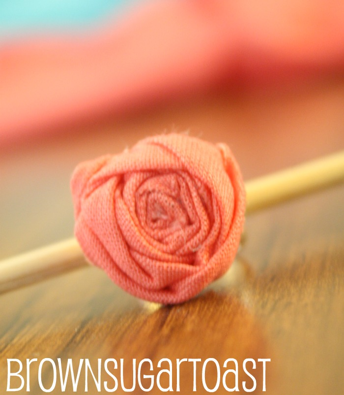 Rolled Fabric Flower rings