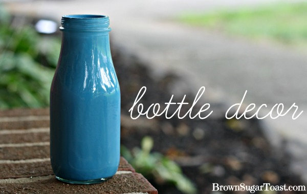 painted bottle decor