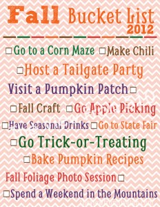 fall bucket list - sample