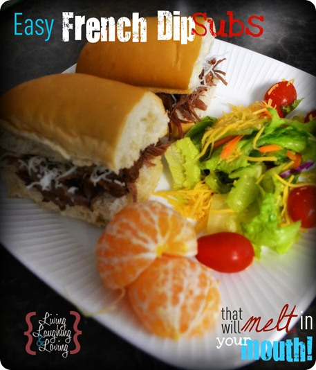 Easy French Dip Subs...in the crockpot!!