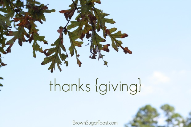 giving thanks - for everything.