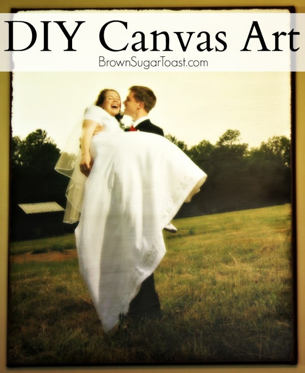 DIY Canvas with step by step pictures. Such a great way to personalize your space on a budget!