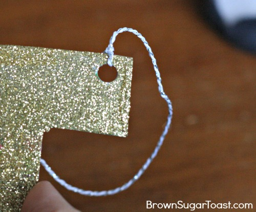 Pottery Barn Inspired Glitter Ornament - can't believe this is made out of an old shoebox!