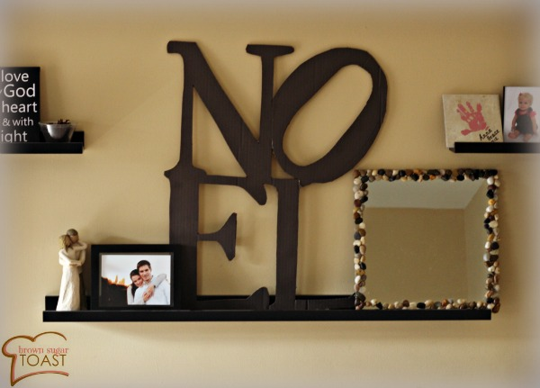 Pottery Barn knock-off...made out of cardboard!!! love it!