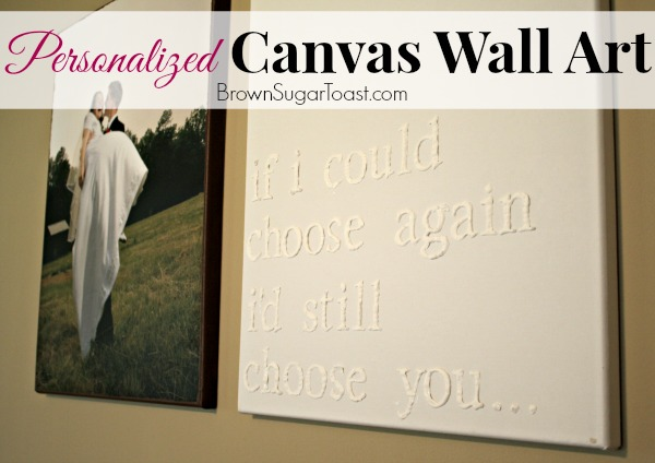 Make Custom Wall Art using a canvas & puffy paint. This step by step tutorial makes it easy!