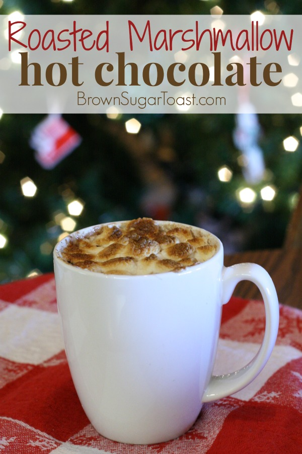 Roasted Marshmallow hot chocolate - top with marshmallows and broil! Such a special treat!