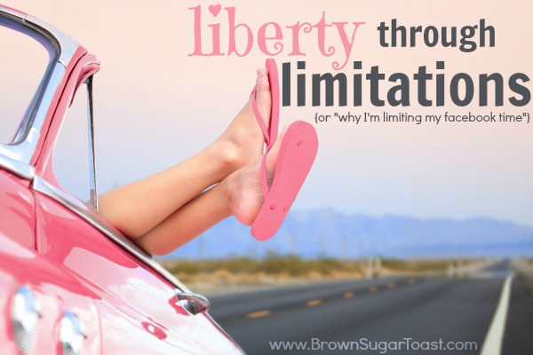 How to find liberty through limiting yourself. It really is possible!
