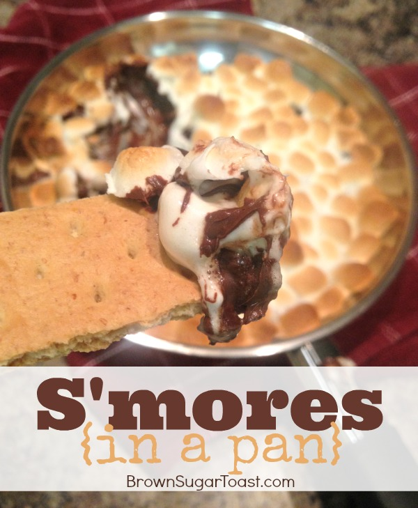 S'mores {in a pan} - 3 ingredients, NO mixing, & only 1 pan for clean-up! Soo delish!!!