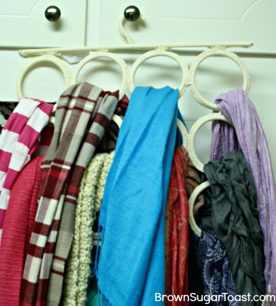 Pinterest Scarf Holder - and why sometimes you should NOT diy.