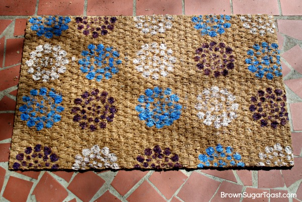 how to stencil a doormat6