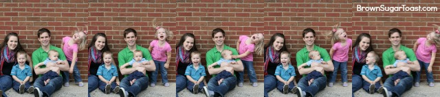 4 tips for taking your own family pictures - excellent, practical tips on attitude, what to wear, etc.