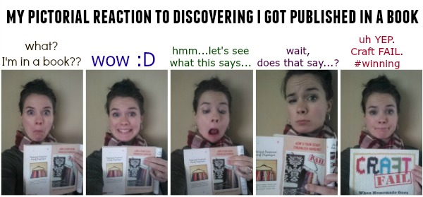 my reaction to being in a book...