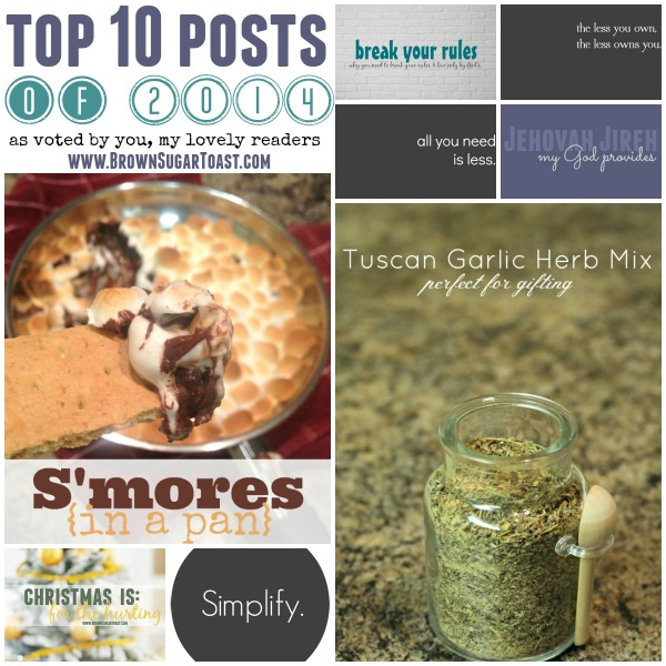 top 10 of 2014 from brownsugartoast.com