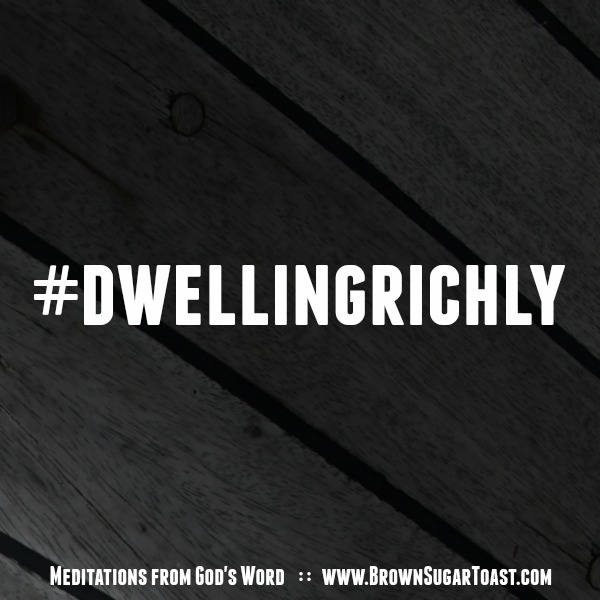 #dwellingrichly // a community of sharing our meditations from God's Word