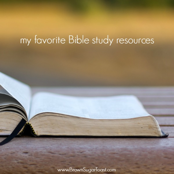 favorite bible study resources