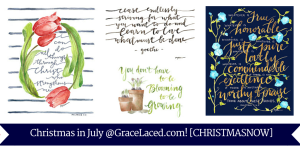 Christmas in July @GraceLaced.com!