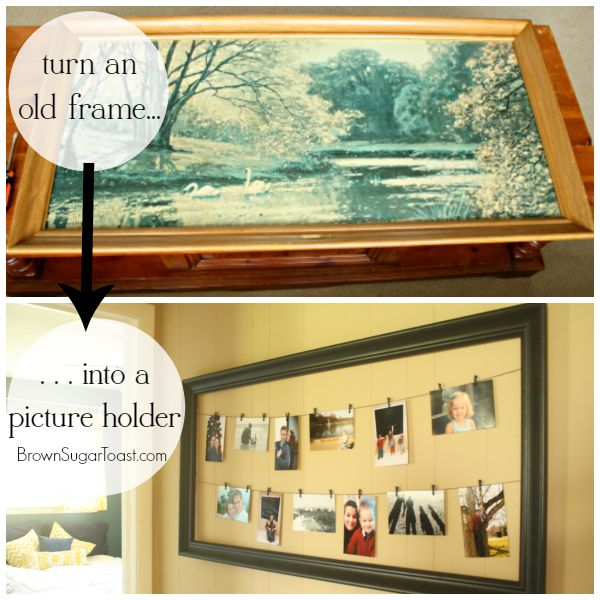 diy picture holder from a large frame - Diy Large Picture Frame
