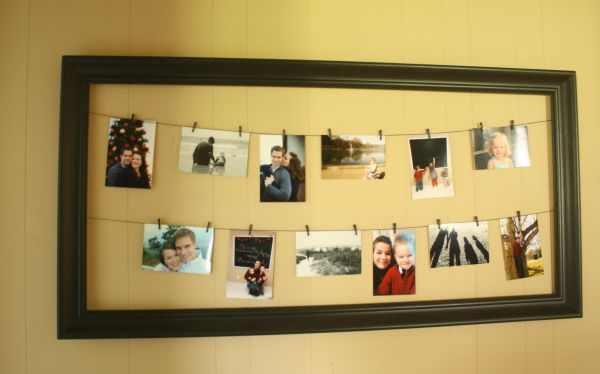 DIY :: picture holder from a large frame