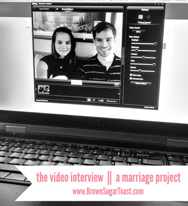 video interview :: a marriage project - love this idea!!!