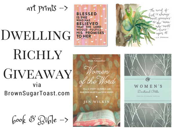 dwelling richly giveaway
