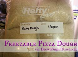 Fill Up Your Freezer Series :: Freezable Pizza Dough