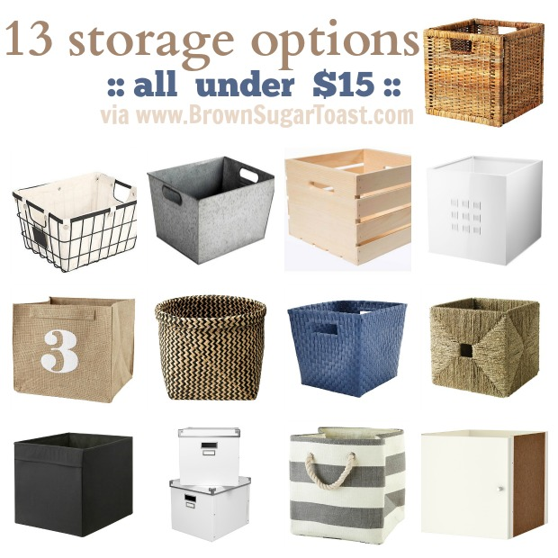 13 Storage Options Under 15